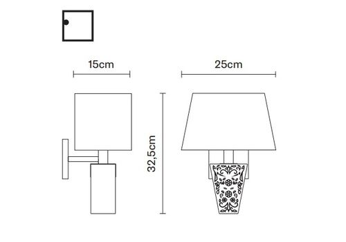 Настенный светильник Fabbian VICKY D69 D03, фото 2