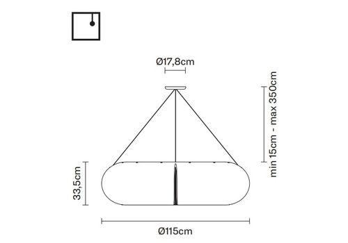 Подвесной светильник Fabbian TOROIDALE D71 A01, фото 2