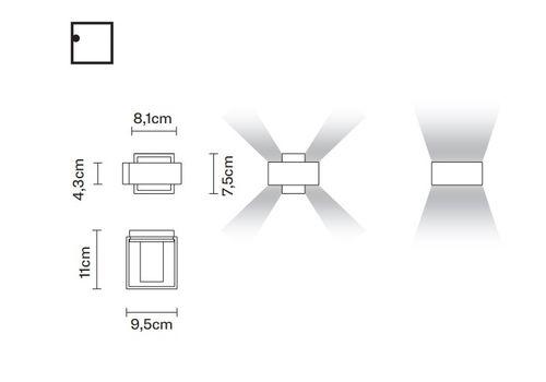 Настенный светильник Fabbian BIJOU D75 D09, фото 2