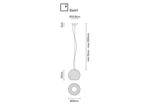 Подвесной светильник Fabbian DIAMOND&SWIRL D82 A05/07, фото 2