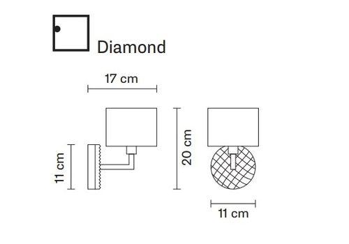 Настенный светильник Fabbian DIAMOND&SWIRL D82 D01, фото 2