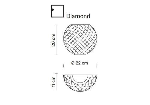 Настенный светильник Fabbian DIAMOND&SWIRL D82 D99, фото 2