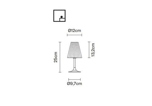Настольный светильник Fabbian FLOW D87 B01, фото 2