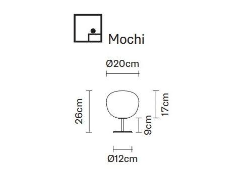 Настольный светильник Fabbian LUMI F07 B1-Mochi, фото 2