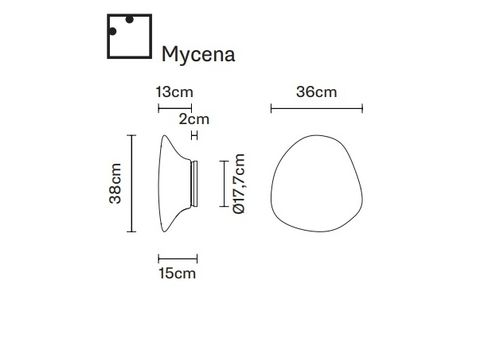 Настенно-потолочный светильник Fabbian LUMI F07 G15/G39/G17/G41/G19/G43, фото 2