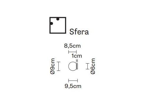 Настенно-потолочный светильник Fabbian LUMI F07 G-Sfera, фото 2