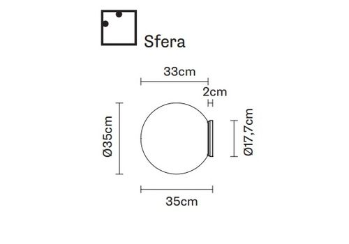 Настенно-потолочный светильник Fabbian LUMI F07 G23/G25/G27/G29/G47/G31/G49, фото 2