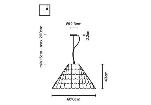 Подвесной светильник Fabbian ROOFER F12 A03, фото 2