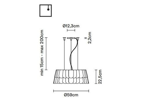 Подвесной светильник Fabbian ROOFER F12 A05, фото 2