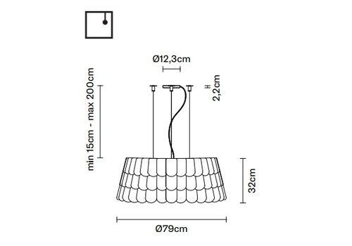 Подвесной светильник Fabbian ROOFER F12 A07, фото 2