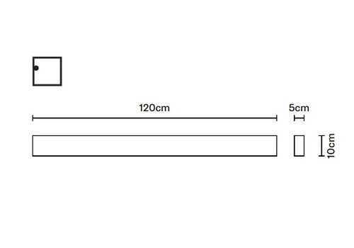 Потолочный светильник Fabbian SLOT F15 D02, фото 2