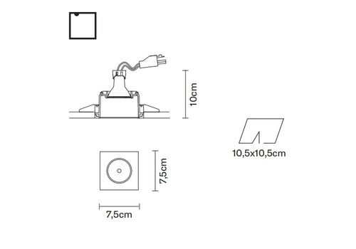 Встраиваемый светильник Fabbian TOOLS F19 F01, фото 2