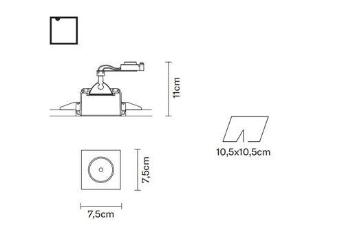 Встраиваемый светильник Fabbian TOOLS F19 F02, фото 2