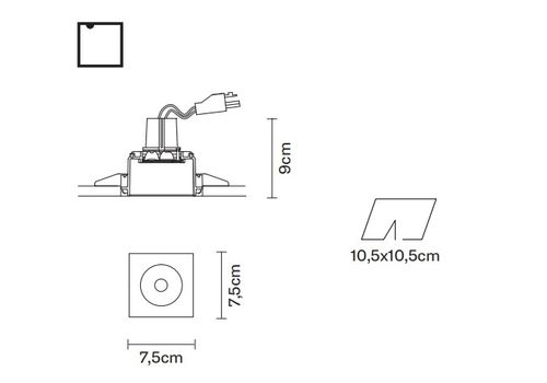 Встраиваемый светильник Fabbian TOOLS F19 F03, фото 2