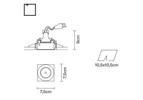 Встраиваемый светильник Fabbian TOOLS F19 F04, фото 2
