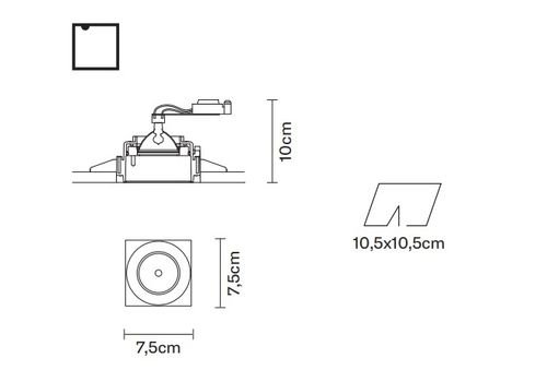 Встраиваемый светильник Fabbian TOOLS F19 F05, фото 2