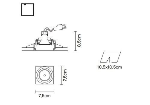 Встраиваемый светильник Fabbian TOOLS F19 F10, фото 2