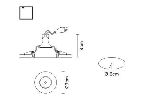 Встраиваемый светильник Fabbian TOOLS F19 F20, фото 2