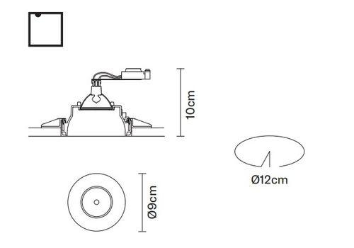 Встраиваемый светильник Fabbian TOOLS F19 F21, фото 2