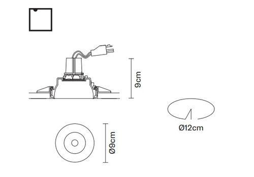 Встраиваемый светильник Fabbian TOOLS F19 F22, фото 2