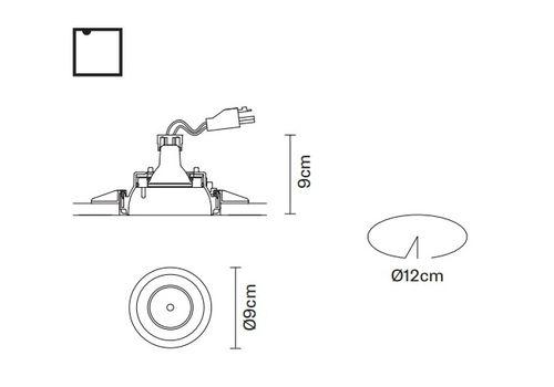 Встраиваемый светильник Fabbian TOOLS F19 F23, фото 2