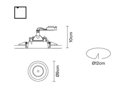 Встраиваемый светильник Fabbian TOOLS F19 F24, фото 2