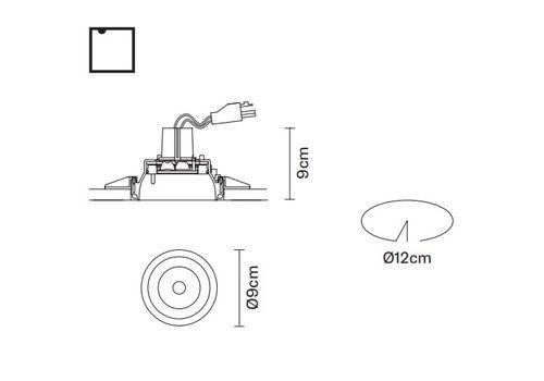 Встраиваемый светильник Fabbian TOOLS F19 F25, фото 2