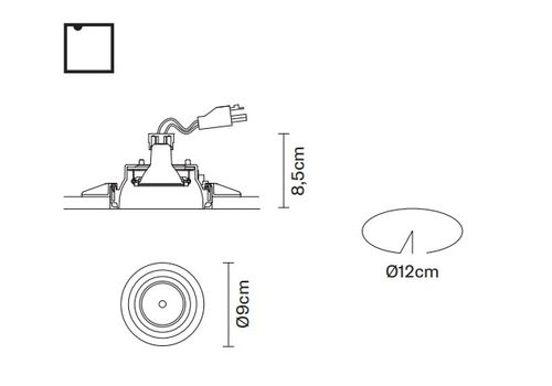 Встраиваемый светильник Fabbian TOOLS F19 F30, фото 2