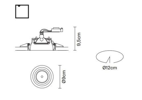 Встраиваемый светильник Fabbian TOOLS F19 F31, фото 2