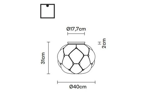 Потолочный светильник Fabbian CLOUDY F21 E01/02/03/05, фото 2