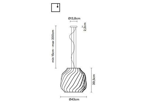 Подвесной светильник Fabbian LAMAS F24 A01/А03, фото 2