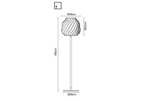 Напольный светильник Fabbian LAMAS F24 C01/03, фото 2