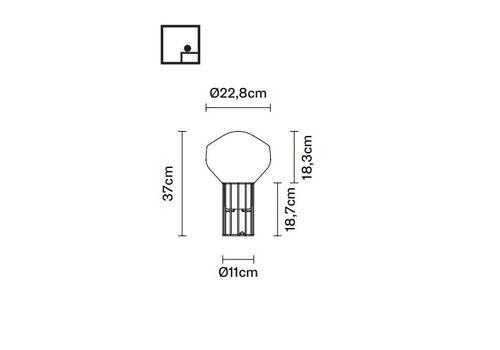 Напольный светильник Fabbian AEROSTAT F27 B01, фото 2