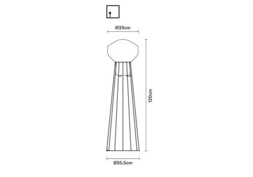 Напольный светильник Fabbian AEROSTAT F27 C01, фото 2
