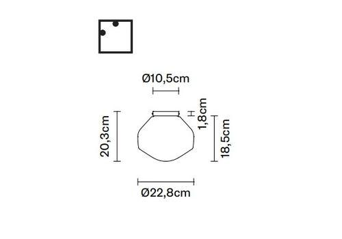 Настенно-потолочный светильник Fabbian AEROSTAT F27 G01/03/05/07/09, фото 2