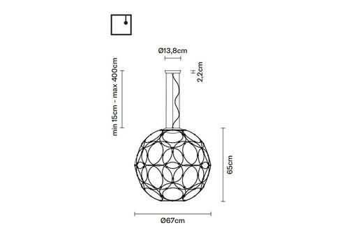 Подвесной светильник Fabbian GIRO F30 A01/A03, фото 2
