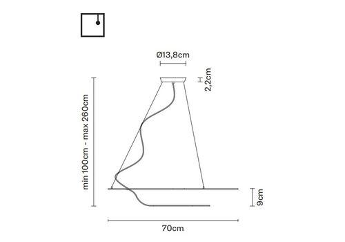 Подвесной светильник Fabbian GLU F31 A01, фото 2