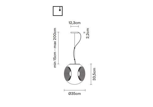 Подвесной светильник Fabbian EYES F34 A01/03, фото 2
