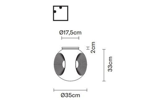 Настенно-потолочный светильник Fabbian EYES F34 G01, фото 2