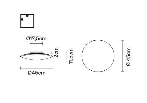 Настенно-потолочный светильник Fabbian LOOP F35 G01/03, фото 1