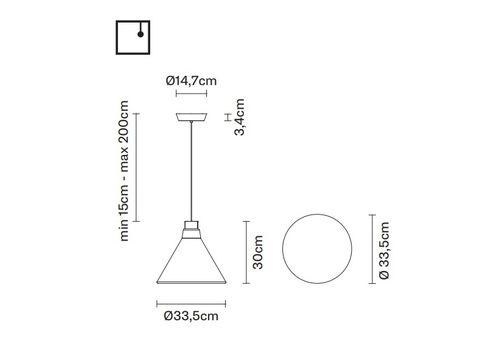 Подвесной светильник Fabbian POLAIR  F36 A01/03, фото 2