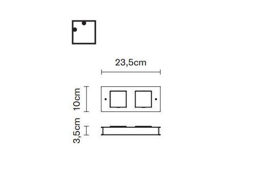Настенный светильник Fabbian QUARTER F38 G01, фото 2