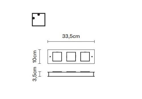 Настенный светильник Fabbian QUARTER F38 G03, фото 2