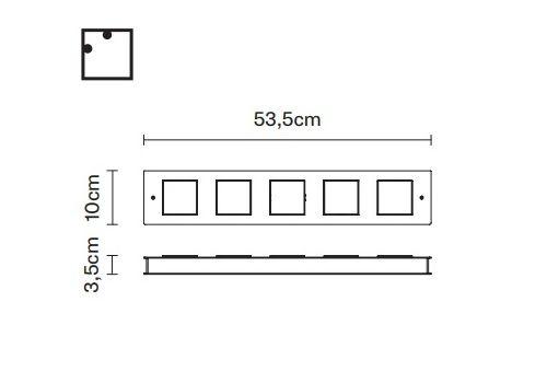 Настенный светильник Fabbian QUARTER F38 G05, фото 2