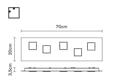 Настенно-потолочный светильник Fabbian QUARTER F38 G11, фото 2